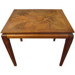 1930s French Art Deco Side Table by Emilia Salle