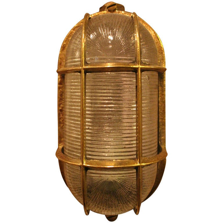 Nautical Bronze Sconce at 1stdibs