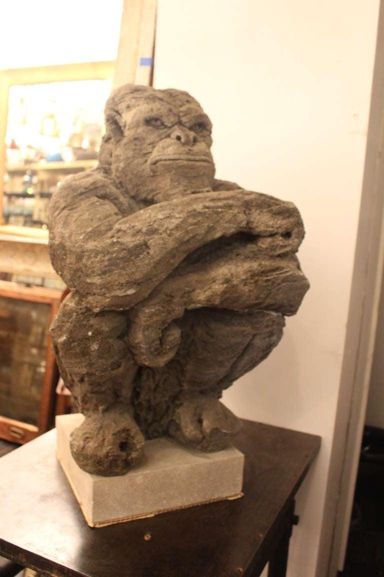 Featherock Monkey Sculpture At 1stdibs