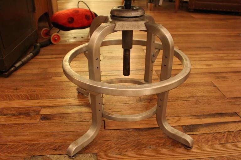 Mid-20th Century Original Goodform Metal Stool For Sale