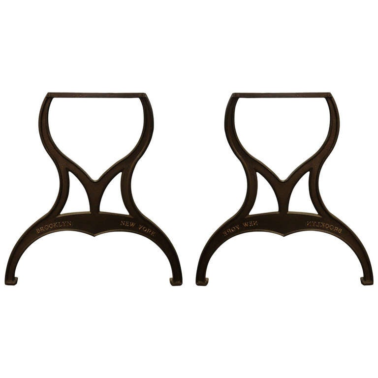 Iron Table Legs : Pair of