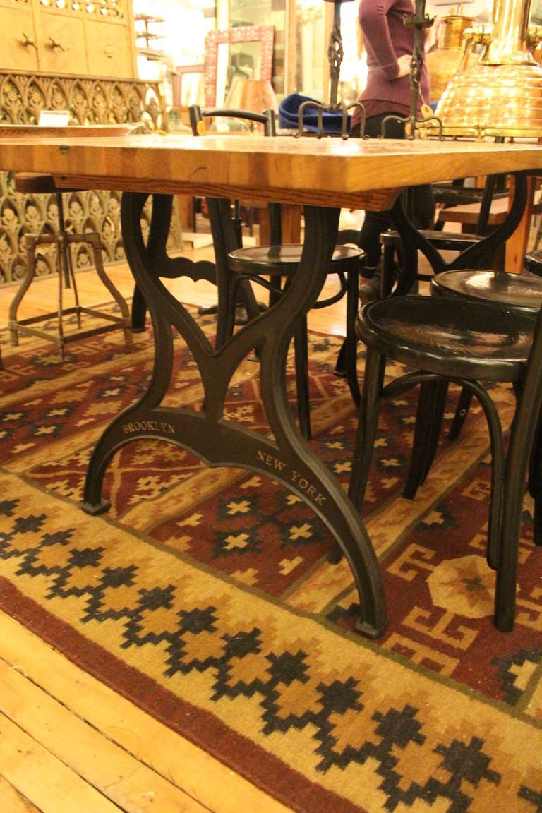Industrial Pair of Ductile Iron Table Legs with