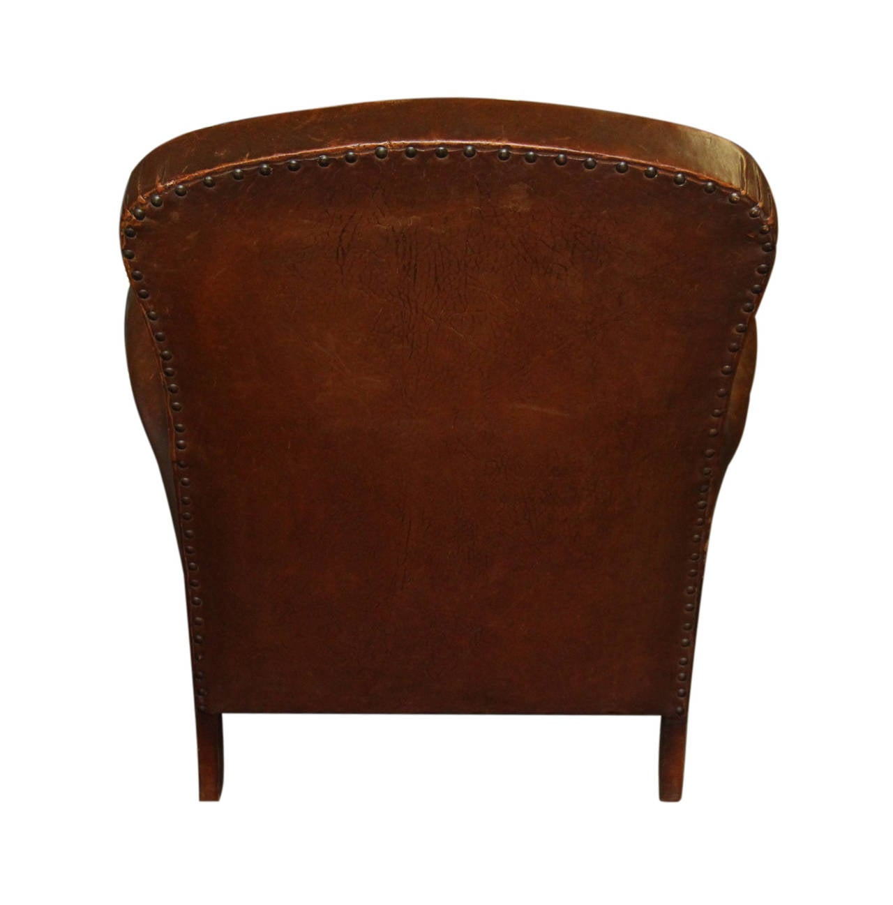 1940s French Leather Club Chair At 1stdibs