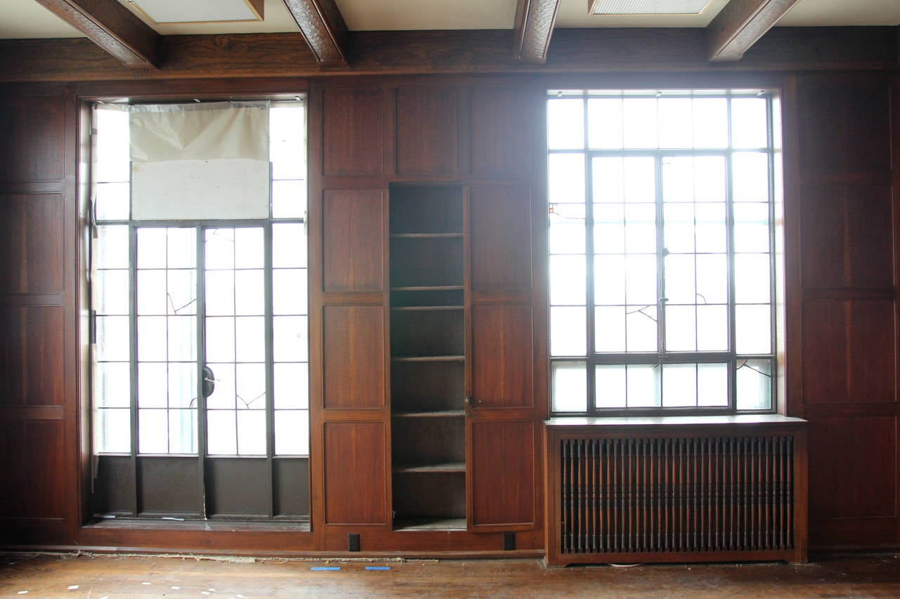 Oak Paneled Rooms : Solid english oak paneled room with matching door