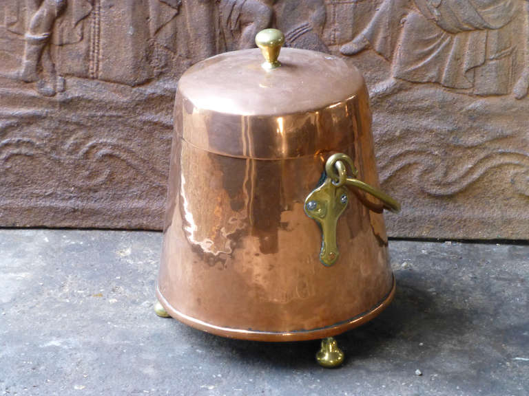 19th Century Red Copper Doofpot At 1stdibs