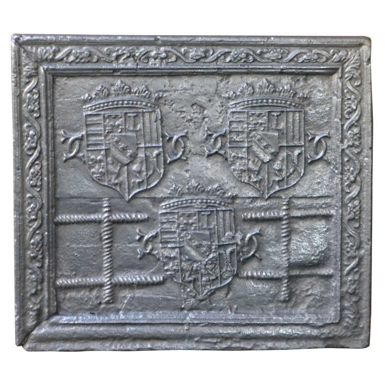 16th Century Lorraine Coat of Arms Fireback