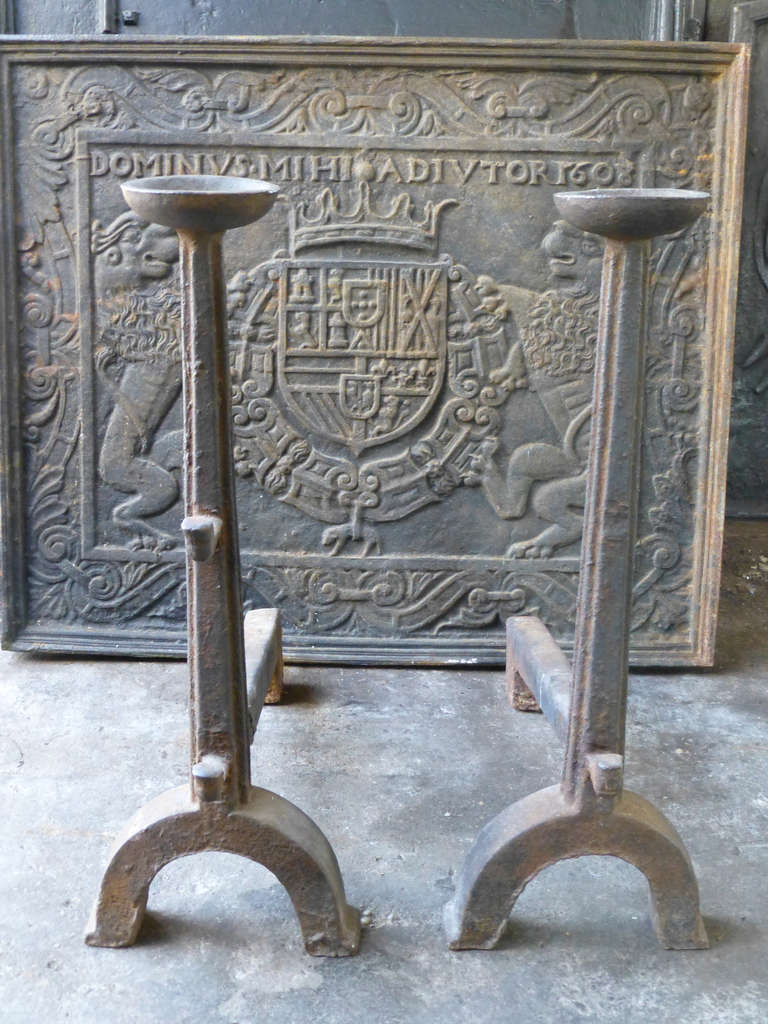 16th c gothic andirons firedogs for sale at 1stdibs