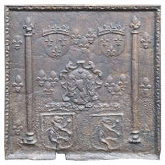 16th/17th Century Arms of France Fireback