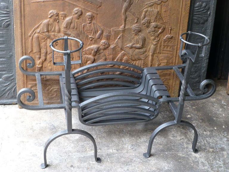20th Century Fireplace Grate, Fire Grate In Good Condition For Sale In Amerongen, NL
