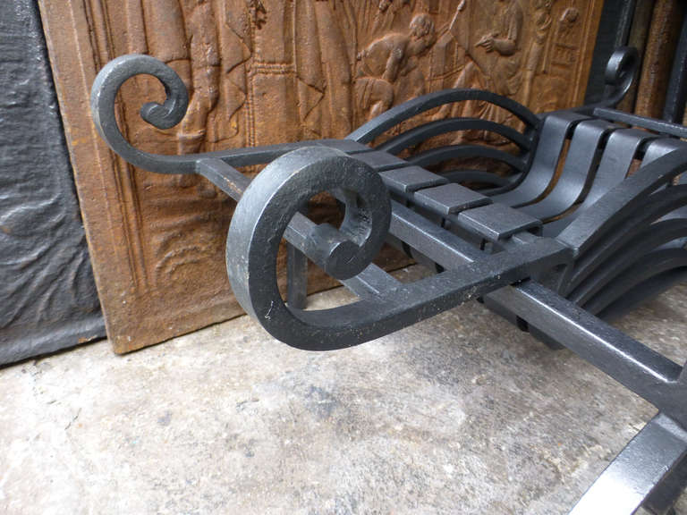 20th Century Fireplace Grate, Fire Grate For Sale 3