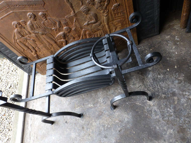 20th Century Fireplace Grate, Fire Grate For Sale 4