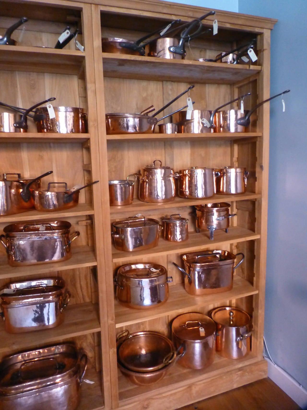 Exceptional 18th 19th century copper batterie de la for 18th century french cuisine