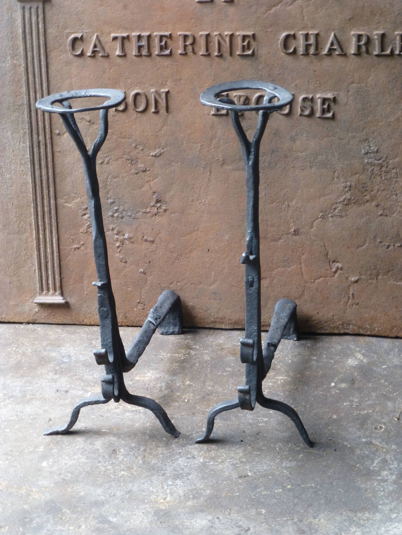 17th century french cupdogs andirons for sale at 1stdibs for 17th century french cuisine