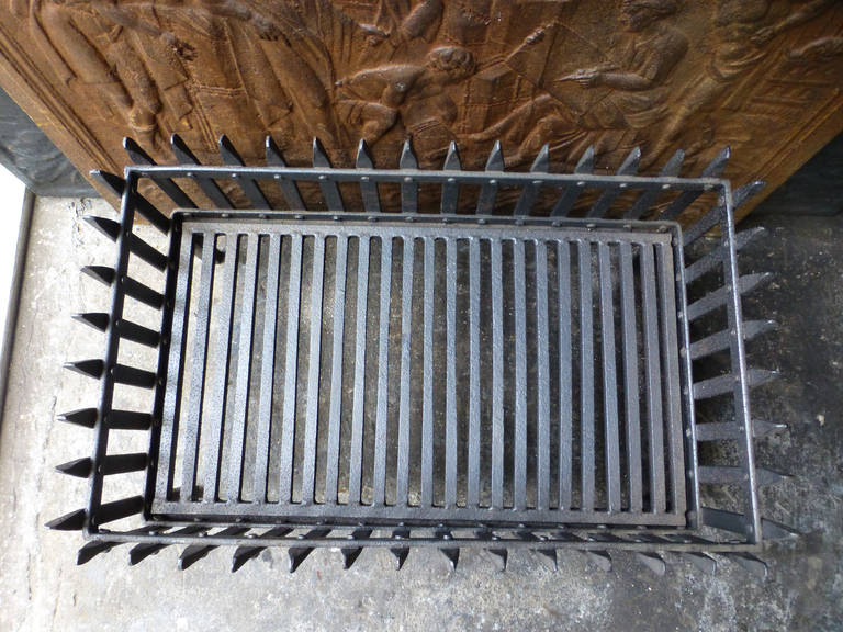 Antique Fireplace Grates Antique Brass Cast Iron And Steel Grate For Sale At