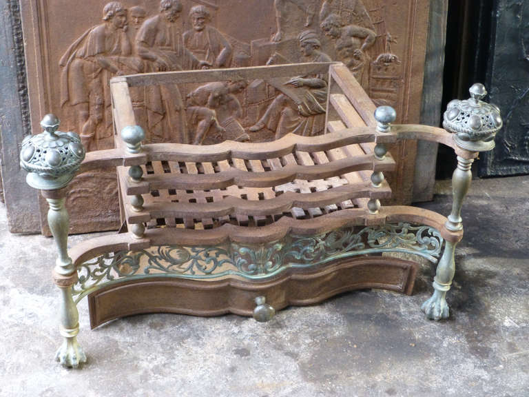 View this item and discover similar fireplace tools and chimney pots for sale at 1stdibs - Fire basket - Fireplace basket with ash tray. Arts and Crafts. Width at front is 81 cm