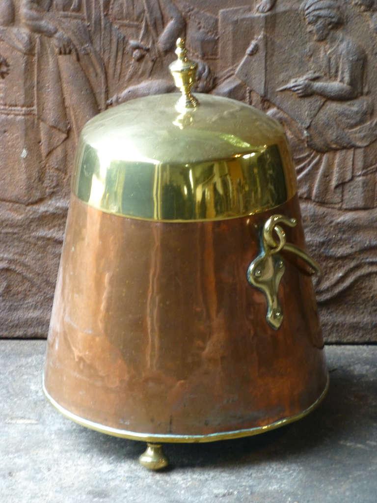 19th C Dutch Copper Doofpot At 1stdibs