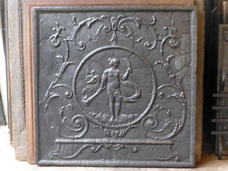 18th century venus fireback at 1stdibs Fireplace Grates Heavy Duty antique fireplace grates
