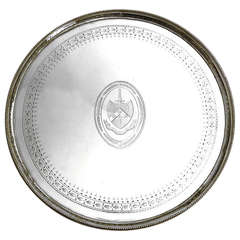 English Antique Silver Salver by Hester Bateman