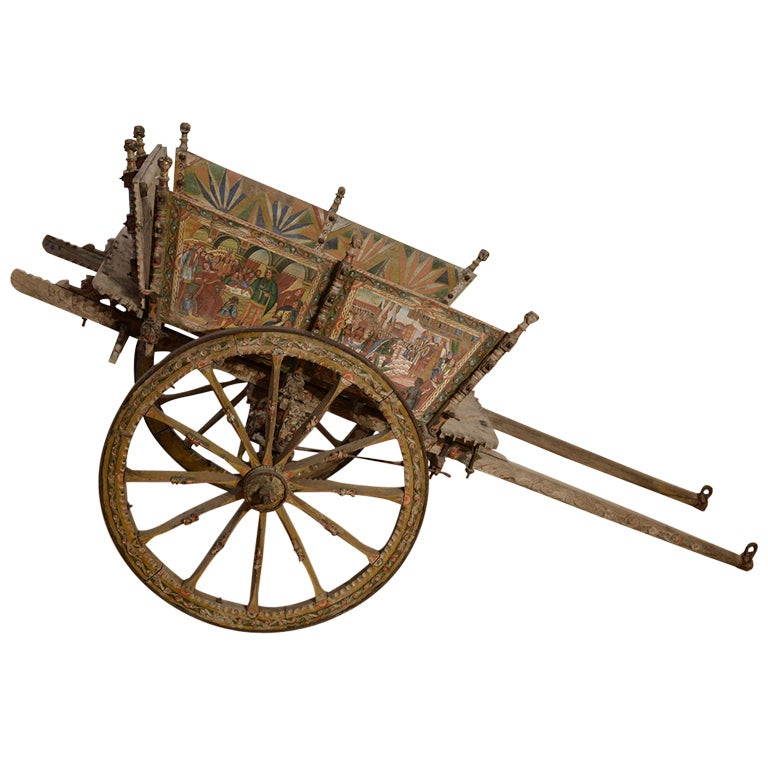 Sicilian Processional Market Cart For Sale At 1stdibs