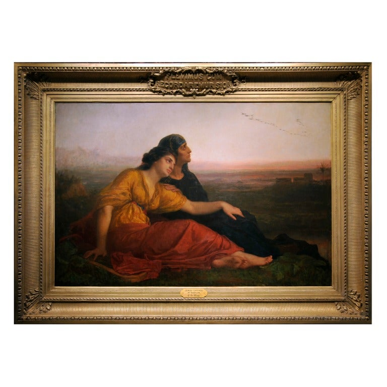 Jewish Captives at Babylon by American Painter Edward Harrison May For Sale