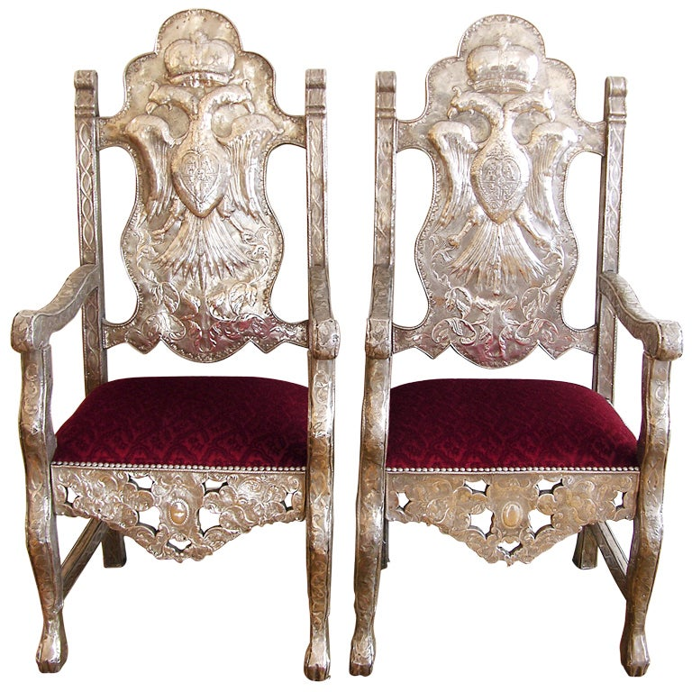 18th Century Bolivian Silver Repousse Chairs At 1stdibs