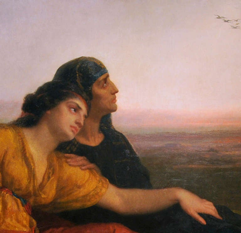 American Classical Jewish Captives at Babylon by American Painter Edward Harrison May For Sale