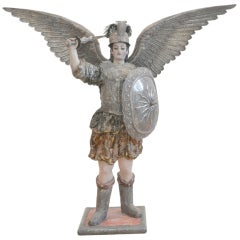 Bolivian Archangel St. Michael Sculpture