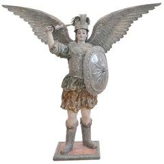 Bolivian Archangel St. Michael Sculpture