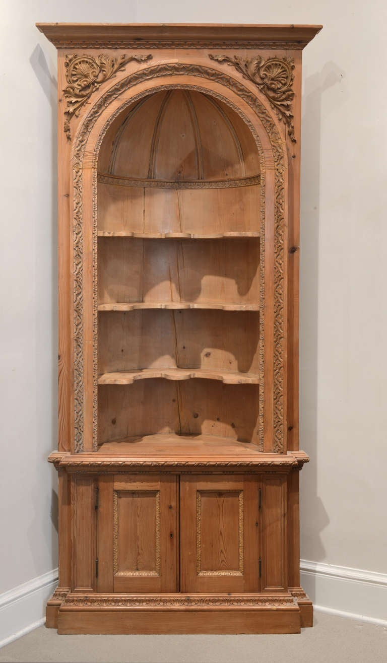 Pair of 19th Century, French, Corner Cabinets at 1stdibs