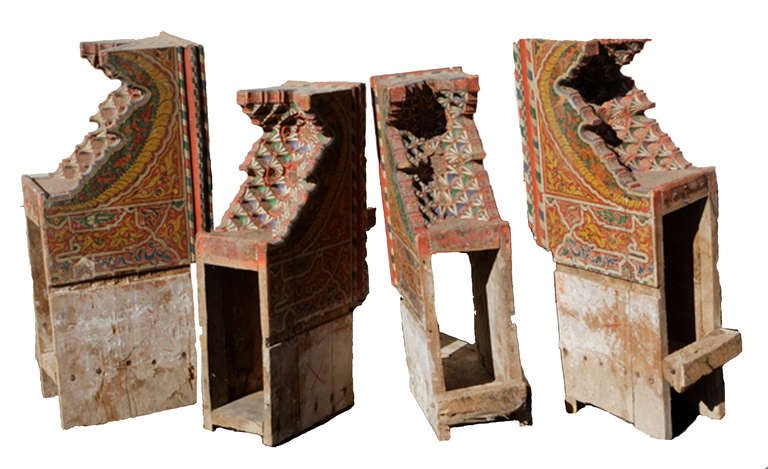 Three 19th Century Moroccan Ceilings In Good Condition For Sale In Santa Fe, NM