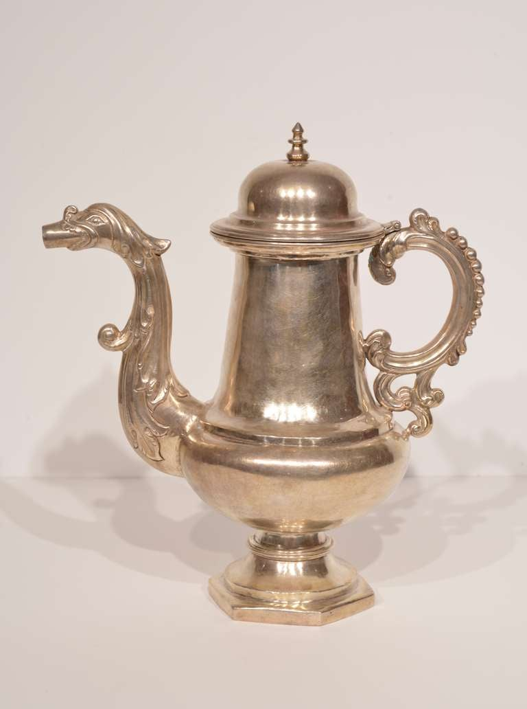 Spanish Colonial 18th Century Bolivian Cafetera  For Sale