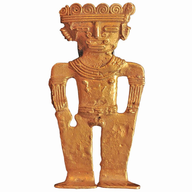 Pre-Columbian Gold Dignitary Figure For Sale