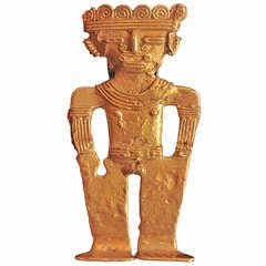 Pre-Columbian Gold Dignitary Figure