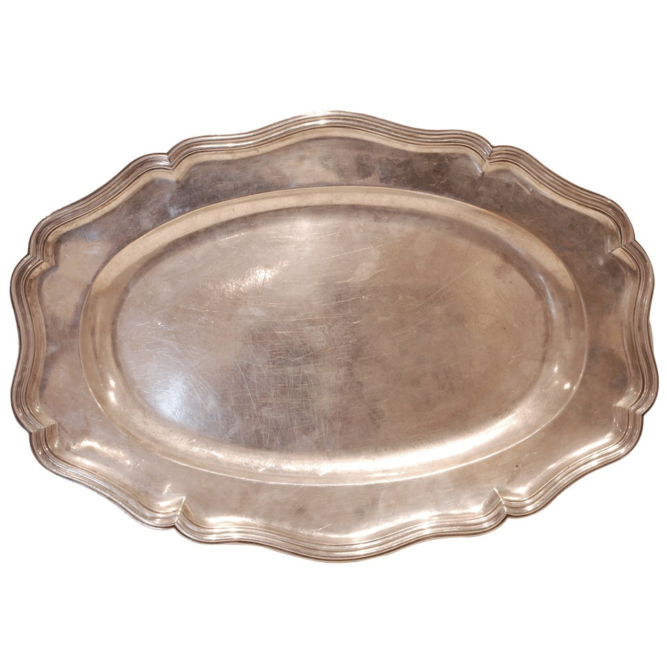 Spanish Colonial Silver Platter