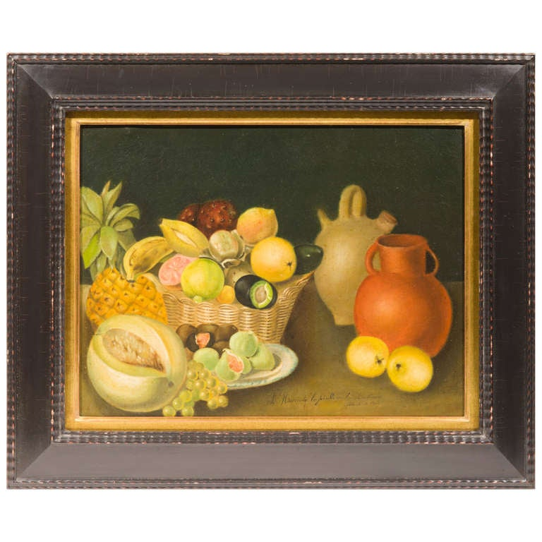 19th Century Mexican Still Life Painting