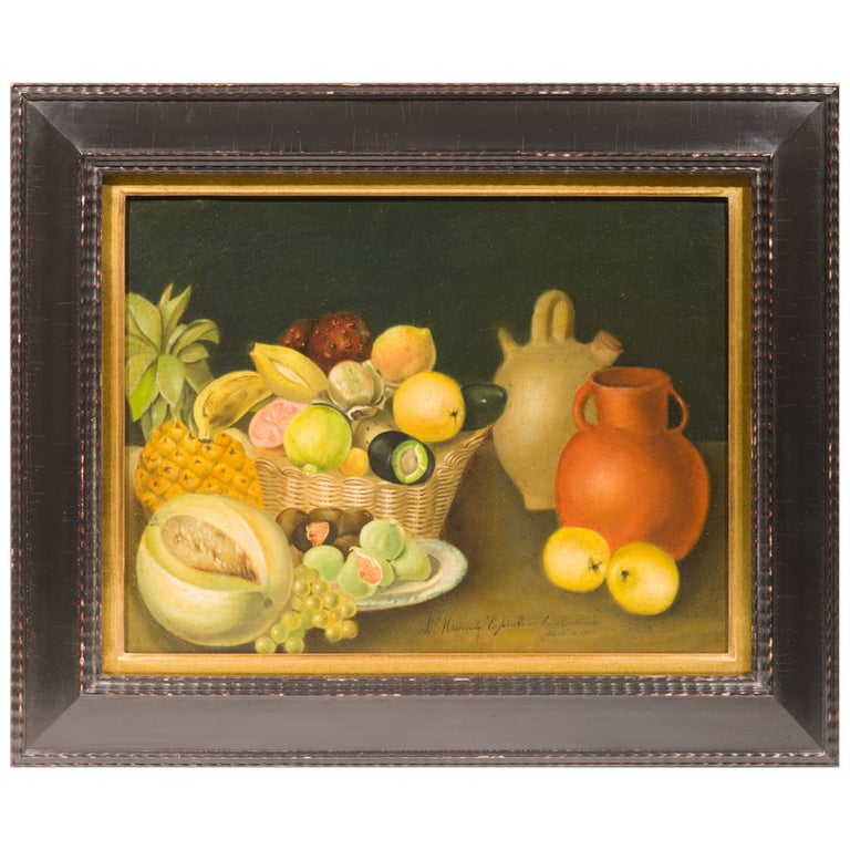 19th Century Mexican Still Life Painting For Sale