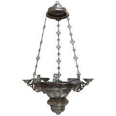 18th Century Silver Chandelier