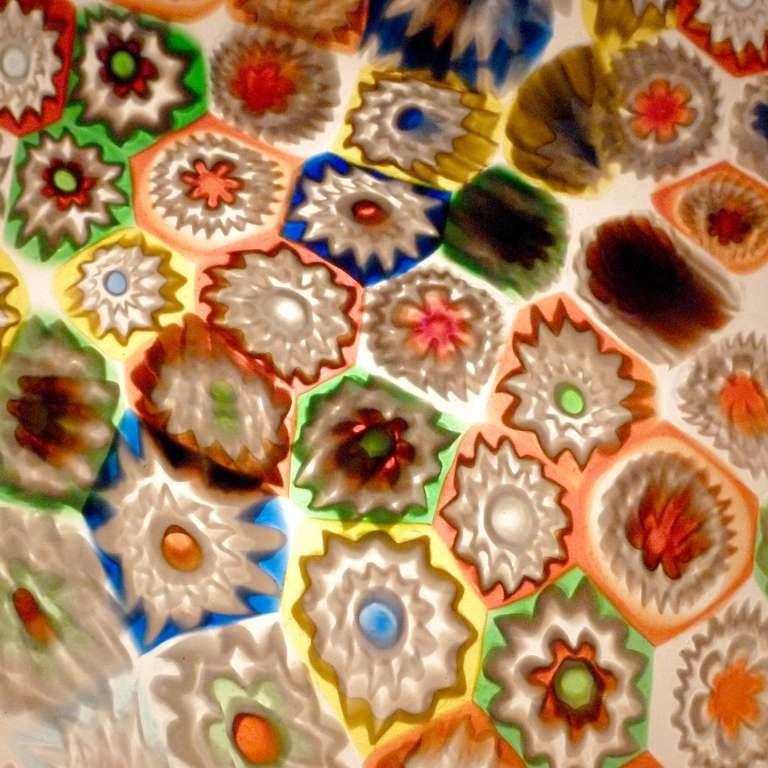 Fratelli Toso Murano Millefiori Flower Mosaic Italian Art Glass Table Lamp 9