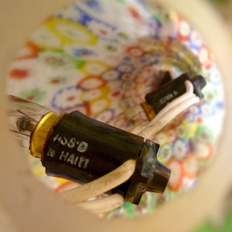 Fratelli Toso Murano Millefiori Flower Mosaic Italian Art Glass Table Lamp 7