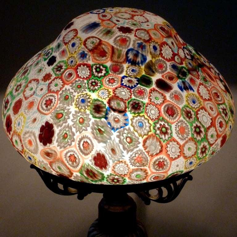 Fratelli Toso Murano Millefiori Flower Mosaic Italian Art Glass Table Lamp 8