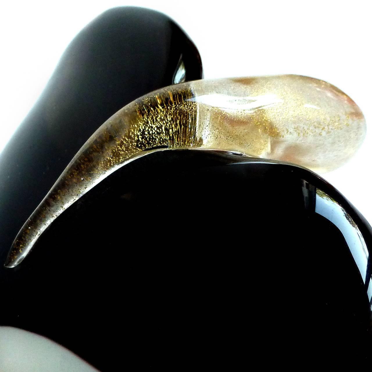 Frattelli Green Glass Gold Rings