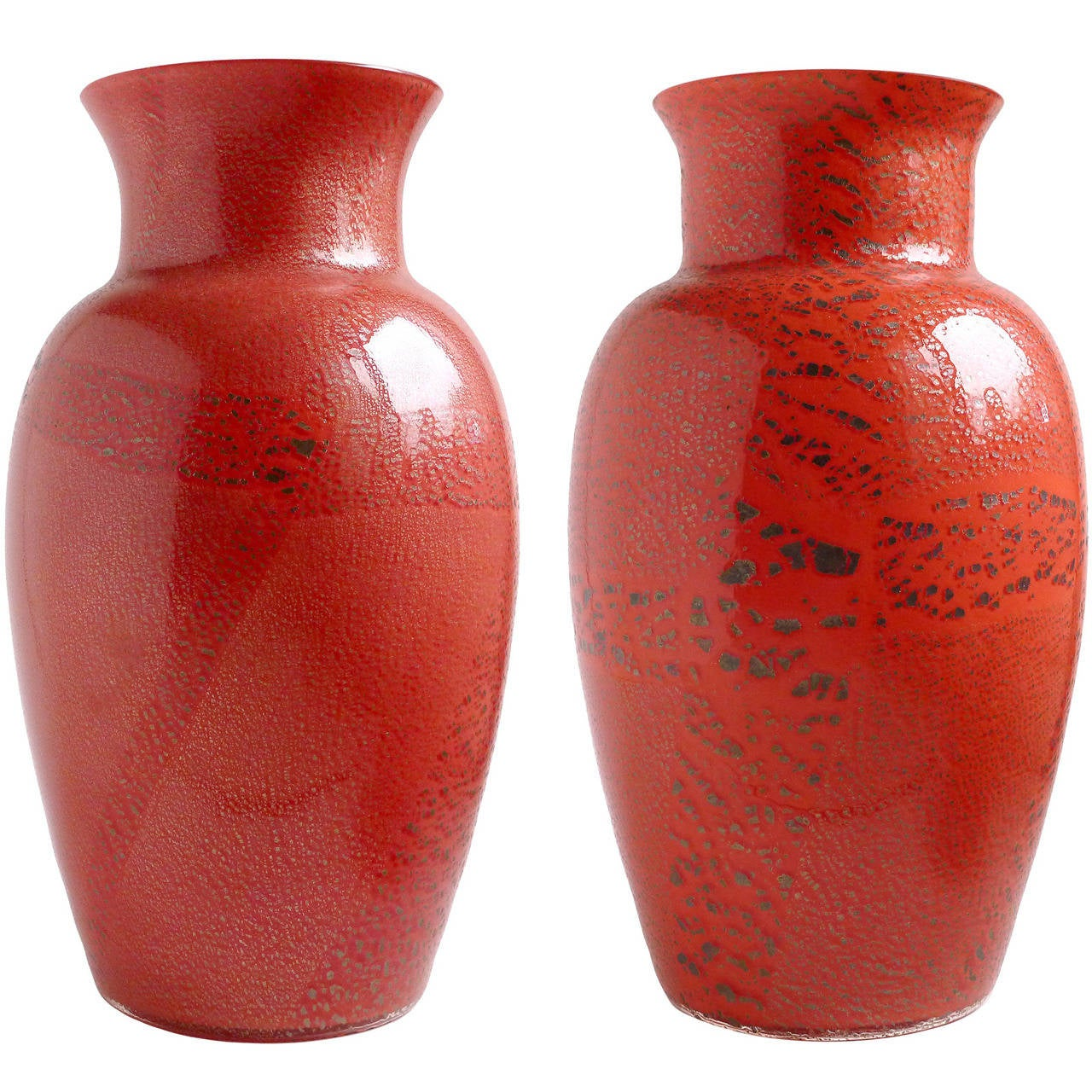 2 awesome large red vase home idea murano red applied heavy silver leaf italian art reviewsmspy