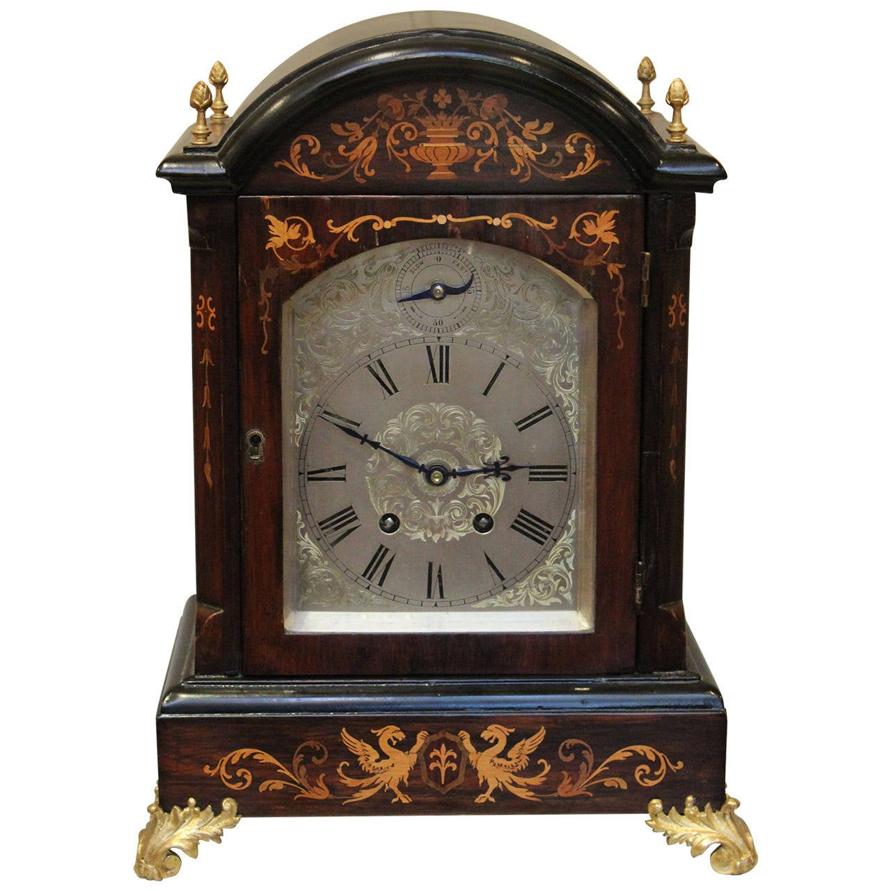 Rosewood And Inlay Lenzkirch Bracket Clock 1