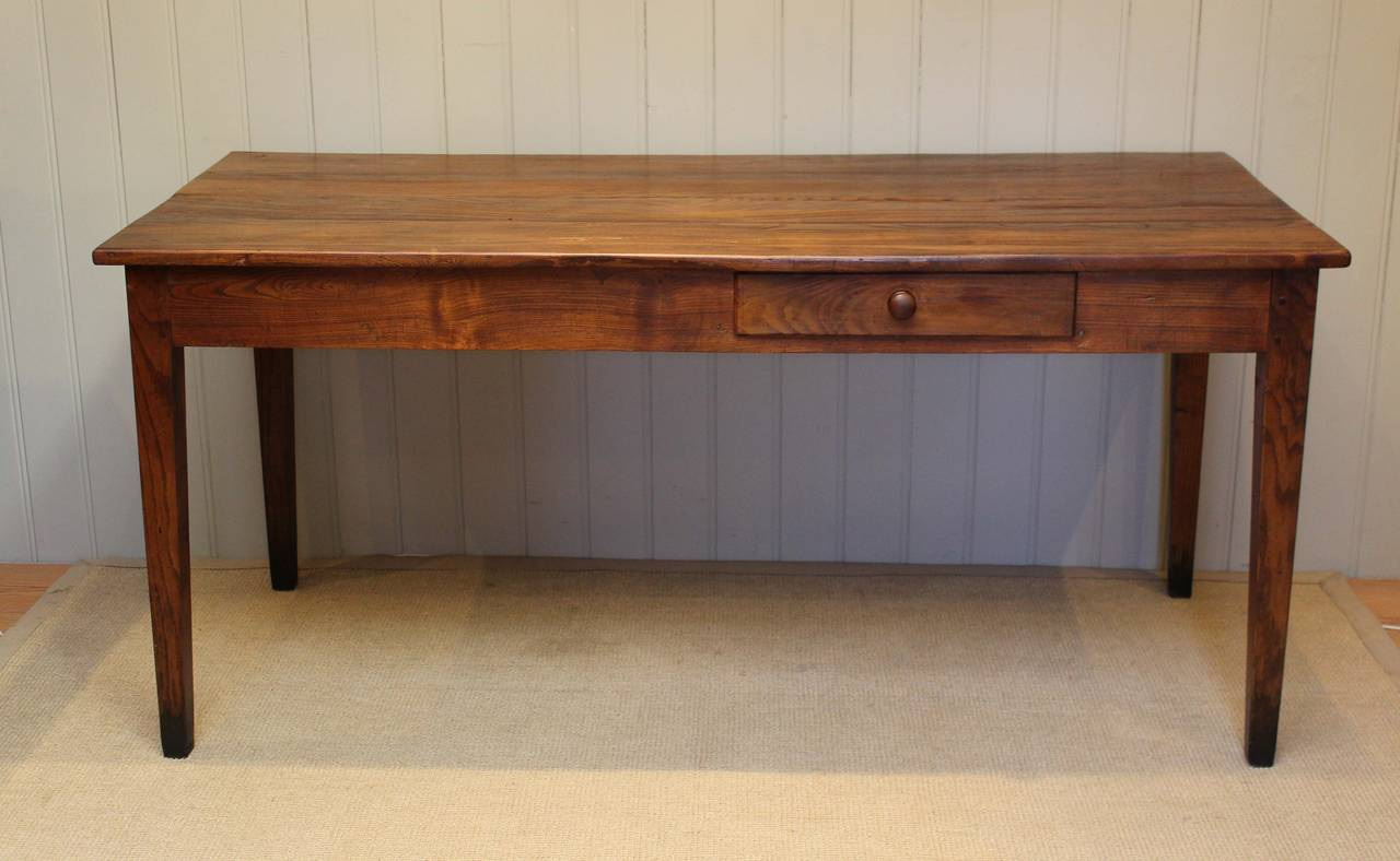 Chestnut farmhouse table at 1stdibs for 65 farmhouse table