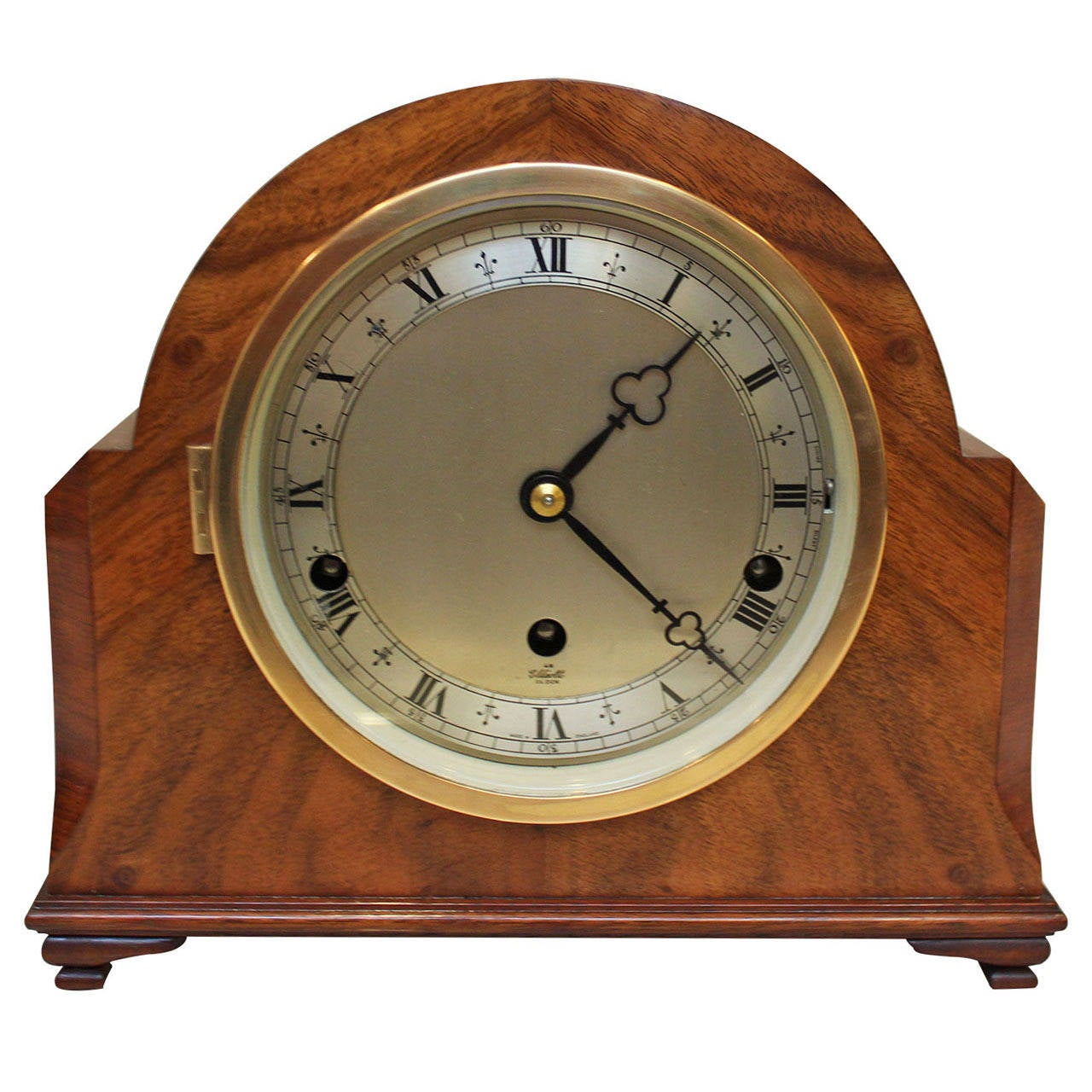 Wall Mounted Grandfather Clock Walnut Westminster Chime Mantel Clock At 1stdibs