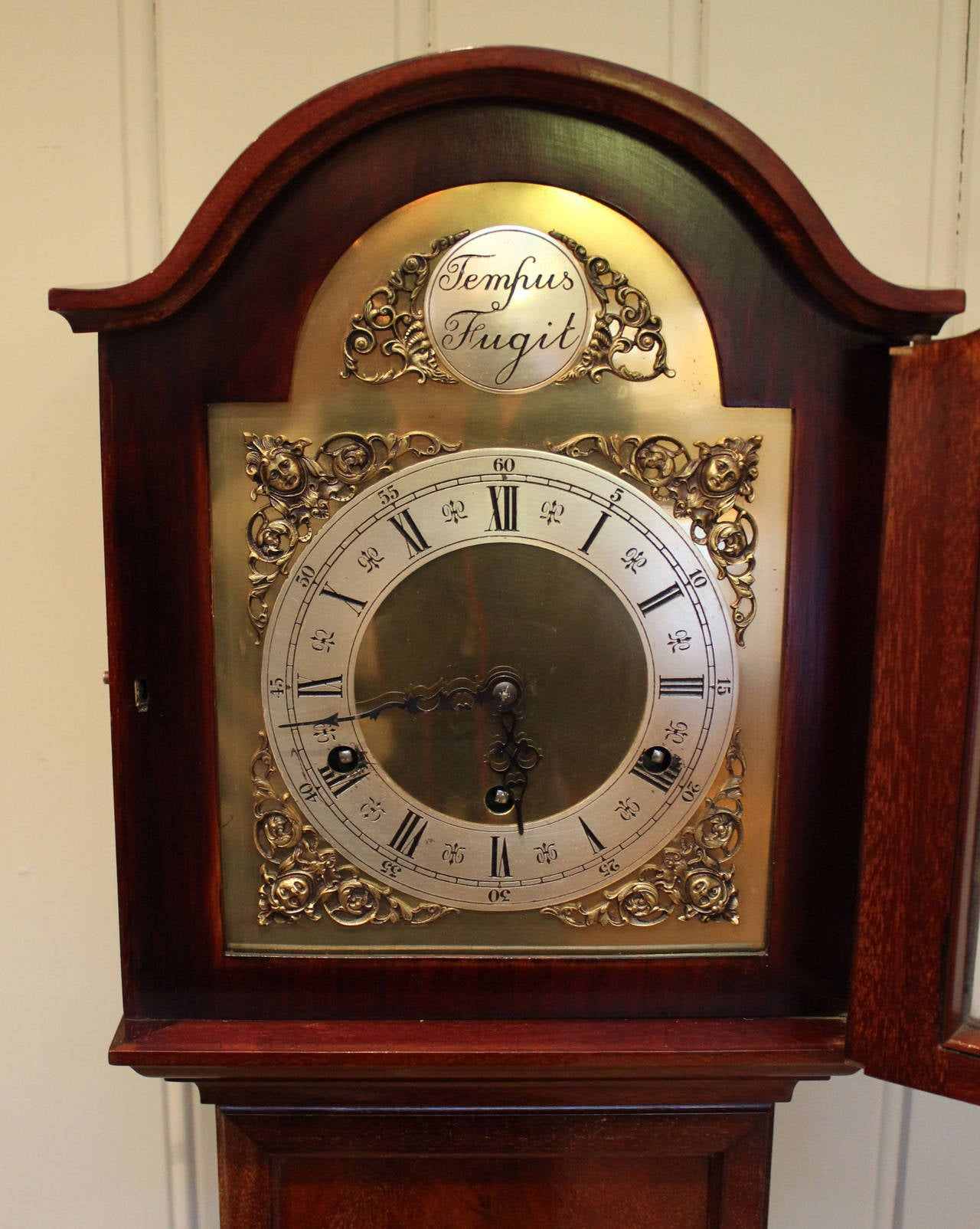 Mahogany Westminster Chime Grandmother Clock At 1stdibs