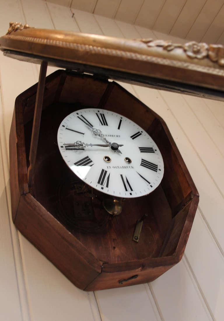 Unusual Oval Vineyard Wall Clock At 1stdibs