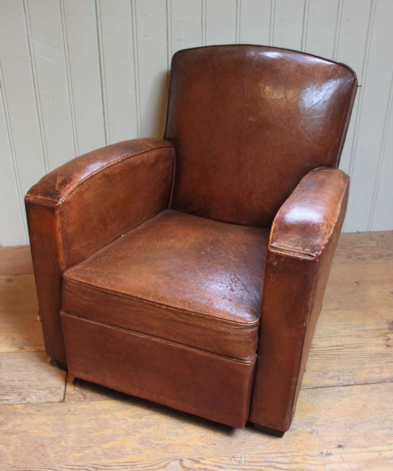 Armchairs Leather: Original Leather Armchair At 1stdibs
