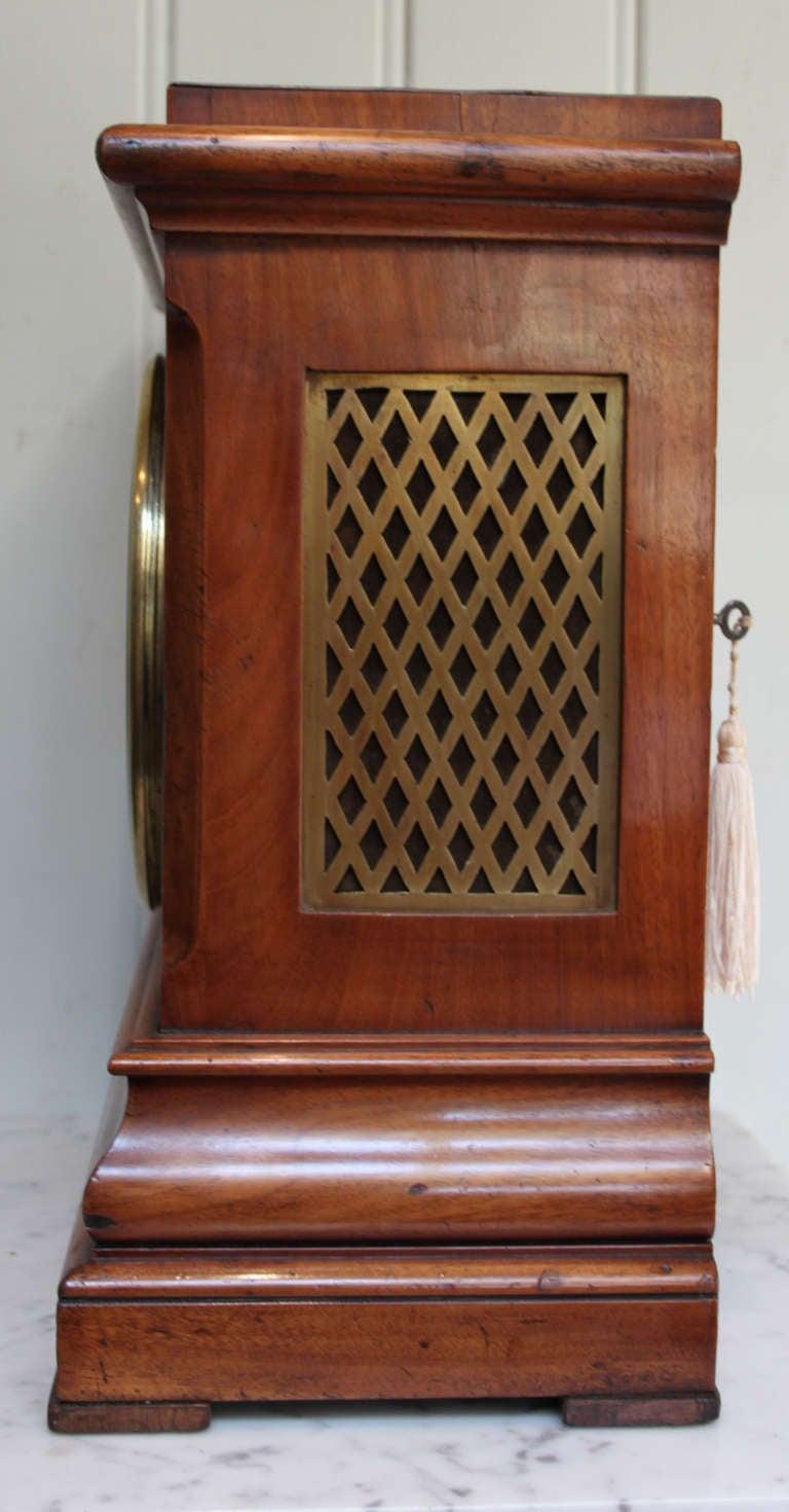 Light Mahogany Chamfer Top Bracket Clock At 1stdibs