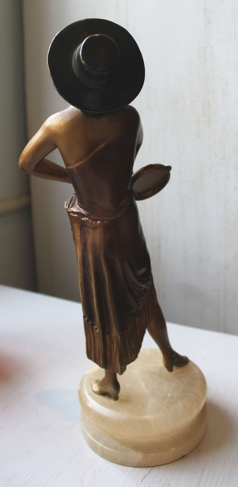 deco patinated spelter figure of a dancer at 1stdibs